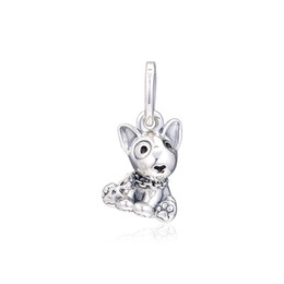 Chinese  2019 Mother's Day 925 Sterling Silver Jewelry Bull Terrier Puppy Charm Beads Fits Pandora Bracelets Necklace For Women DIY Making manufacturers