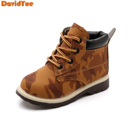 $enCountryForm.capitalKeyWord Australia - Davidyue 2018 New Arrival Kids Children Martin Army Boots Girls Boys Baby Winter Tenis Infantil Boots Flat Shoes MX190726