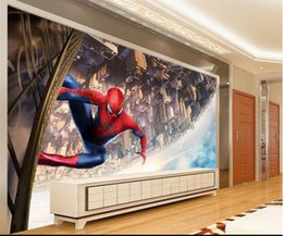 $enCountryForm.capitalKeyWord Australia - custom size 3d photo wallpaper living room bed room mural Spider-Man cartoon kids picture sofa TV backdrop wallpaper non-woven wall sticker