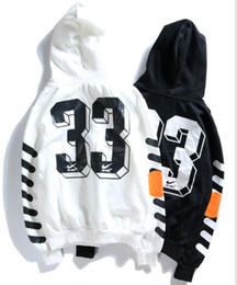 ce8aeea8fc Free Shipping 4style Off hoodie white Hot Sales new loose men and women  hooded sweater loose hoodie White and Black Couple hoodie wholesale