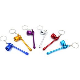 $enCountryForm.capitalKeyWord NZ - High Quality Metal Pipe Mushroom Keychain Key Chain Portable Long Mini Key Ring