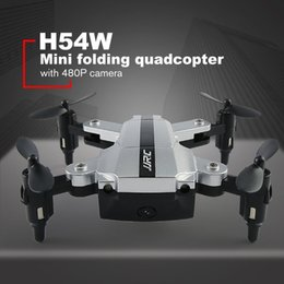 Helicopters Toys Camera Australia - JJRC H54W 480P RC Quadcopters Toy Foldable Mini RC Drone WiFi FPV Camera Waypoints G-sensor Voice Control Helicopters