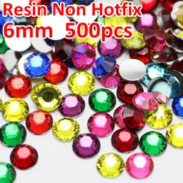Hotfix resin online shopping - 6MM Mix Colors Crystals bag Resin Non HotFix FlatBack Rhinestones for Nail Decoration Glitters strass stones
