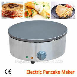"pan pancake NZ - Crepe Maker Electric Pancake Machine Non-stick Omelettes Blinis Shawarma Kitchen Cooking Griddle 40cm 15.7"" Round Pan Brand New"