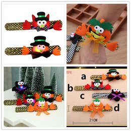 handcuffed bracelet Australia - Halloween Toy Gifts Kids Led Colored Luminous Wristband Cartoon Cute Handcuffs Pumpkin Bat Flashing Strap Child Sequins Bracelet Hot B72701