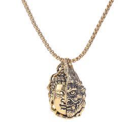 $enCountryForm.capitalKeyWord UK - Factory wholesale hip hop pendant necklace Buddha pendant necklace for men women Hiphop rapper retro vintage jewelry cheap price
