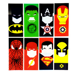 $enCountryForm.capitalKeyWord Australia - Newest 18650 Superhero Cartoon battery PVC Skin Sticker SuperHero Shrinkable Wrap Cover Sleeve Heat Shrink Re-wrapping for Batteries Wrapper