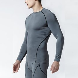 compressed t shirts UK - Fitness Sports Tights Men's Elasticity Long Sleeve Quick-Dry Compressed T-shirt Cchy0013