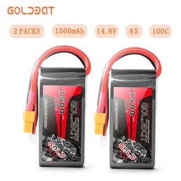 $enCountryForm.capitalKeyWord Australia - 2units Goldbat 1500mah 4s 14.8v Lipo Drone Battery 100c With Xt60 Plug For Fpv Rc Truck J190719