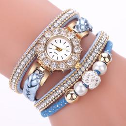 vintage brand watch 2019 - Womens Watches Luxury top brand Weave Wrap Vintage Bracelet Watch Ladies Watch Round Bracelet femme gift reloj mujer Q d