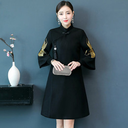 f475cb2a2d6a Chinese Style Mother Casual Dress Vintage Women Qipao Vestido Slim New  Summer Comfortable Breathable Clothing Cheongsam Style Lady Gift Summer  Evening ...