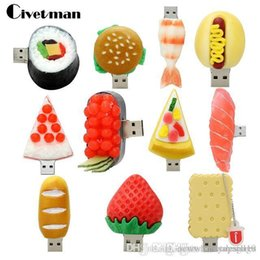 8gb cartoon usb flash memory Australia - UK UK0001 Pendrive Cartoon Korean Sushi Hamburger Food USB Flash Drive Pen Drive 4GB 8GB 16GB 32GB 64GB USB 2.0 Flash Memory Stick Gifts
