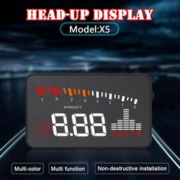 heads up gps UK - Head Up Display Projector Car Speedometer Universal Auto HUD GPS Projector OBD2
