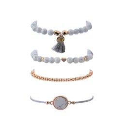 $enCountryForm.capitalKeyWord Australia - Crazy Feng 2018 Bohemian Marble Stone Beads Bracelet Set For Women Natural Stone Tassel Pendant Bangles Bracelet Femme Jewelry