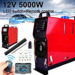 12v heaters for cars 2019 - 12V 5000W Car Air Diesel Heater All-in-One Machine Single Hole LCD Monitor Heater Diesel Parking Warmer For Car Truck Bu