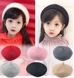 f7b558aff7e New Fashion Children Wool Warm Berets Spring Pure Colors Berets Autumn Kids  Cute Beret Hats Baby Girl Hat Caps Retro Caps Fashion Beanie