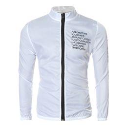 $enCountryForm.capitalKeyWord UK - Summer Jacket Ultralight Waterproof Dry Men White Windbreaker Skin Jacket Coat Sunscreen Lightweight Mens Outwear JK81