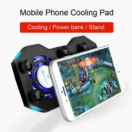 $enCountryForm.capitalKeyWord Australia - EastVita Mobile Phone Cooling Pad Mute Gaming Cooler Radiator Fans with Ring Holder Stand Portable Rechargeable Power Bank