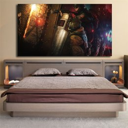 Gold Framed Paintings Australia - Tom Clancy's Rainbow Six Siege Gold Year 2 Edition HD Canvas Posters Prints Wall Art Painting Decorative Picture Home Decoration