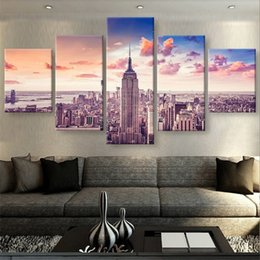 $enCountryForm.capitalKeyWord Australia - New York,5 Pieces HD Canvas Printing New Home Decoration Art Painting Unframed Framed