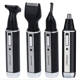 $enCountryForm.capitalKeyWord Australia - 4 in1 electric nose hair trimmer man grooming kit beard shaver eyebrow trimmer nose cut razor sideburn hair clipper cutter shave