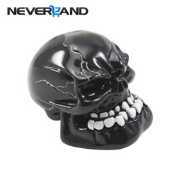 skull gear shift knobs Australia - NEVERLAND Universal Manual Gear Shift Knob Shifter Lever Knob Black Skull Pomo Marchas Gear Car Accessories