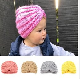 $enCountryForm.capitalKeyWord Australia - Ins Christmas Infant Baby Girls Knitted India Caps Fashion Knitting Adjustable Hats Winter Woolen Warm Caps 12 Colors