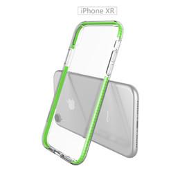 Wholesale Clear Color Case UK - Compatible for Samsung M20 M10 S10 E Plus A9 A7 2018 Elastic TPU+Soft TPE Double Color Hybrid Shockproof Slim Flexible Bumper Clear Case