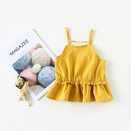 Toddler Sexy UK - Baby Girls dress Summer new girl sexy lace halter dress Child vest princess dress toddler girl dresses vestido infantil