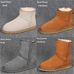 Black knotted mesh online shopping - Mens Snow Boots Australian Style Waterproof Winter Cow Suede Leather Outdoor Boots Brand IVG designer shoes Plus Size EUR