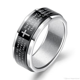 Punk Rings Australia - Punk Rings New Arrival Stainless Steel Ring Cross Ring For Cool Men Jewelry Fantastic Boyfriend Gift GJ643