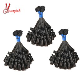 Funmi Hair Australia - Raw Indian Human Virgin Funmi Hair Girly Curly Weave Bundles Grade 8A Mink Hair Machine Double Weft Cuticle Hold Soft And Smooth