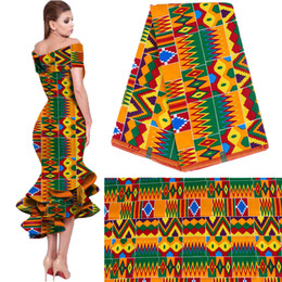 new national style clothing cotton printed fabric plain geometric printing wholesale African fashion exquisite fabric free ship on Sale
