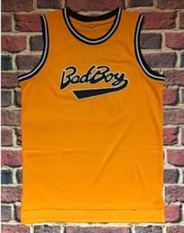 Yellow Basketball Uniforms Australia - Basketball uniform jersey bad boys bad boy smalls 72th jersey yellow black retro mesh basketball wears A302