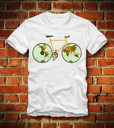 Bicycling Gear Australia - Boardrippaz T Shirt Fixed Gear Fixie Around The World Bicycle Fahrrad Rennrad Fg Mens 100% Cotton Short Sleeve Print
