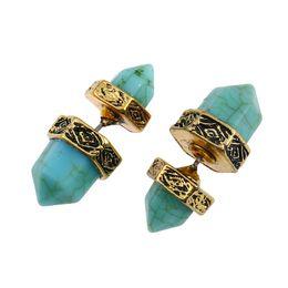 Man Made Diamonds Australia - Six prismatic artificial blue diamond like earrings eardrop pendant Women Brand girlfriend boyfriend gift crafts dinner accessoriese