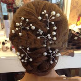 $enCountryForm.capitalKeyWord Australia - 10 PCS Simulate Pearl Hairpins Hairstyles Wedding Bridal Hair Pins Hair Jewelry Accessories Hairwear Girls Hair Clips For Women
