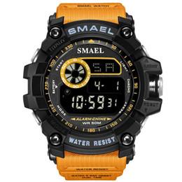 Men S Big Watch Australia - SMAEL Watches Led Digital Watch Big Dial Men Sports Watches 50M Waterproof LED Alarm Clock 8010 Sport S Men
