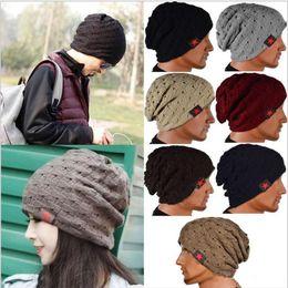 $enCountryForm.capitalKeyWord Australia - Winter Warm New Fashion Men Skull Chunky Women Knit Beanie Reversible Baggy Cap Warm Unisex Hat b275