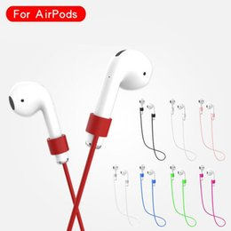 Wholesale Anti lost Strap For Airpods Silicone Rope Lanyard Line For Apple iPhone Air Pod Bluetooth Wireless Earphone Loop