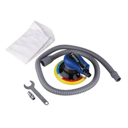 pneumatic connectors Australia - 6inch 150mm Air Palm Sander Pad Pneumatic Tool with Dust Collection Hose Wrench Connector Polisher Dust Bag