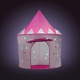 indoor princess tents 2020 - Illuminated fluorescent tent Outdoor indoor crawling folding Child princess game house yurt Camping Tent cheap indoor pr