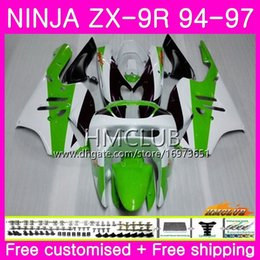 $enCountryForm.capitalKeyWord Australia - Bodys For KAWASAKI NINJA ZX 9R ZX900 ZX-9R 94 95 96 97 Kit 69HM.6 ZX 9 R 94 97 900CC ZX9R 1994 1995 1996 1997 Full Fairing Sale Green white