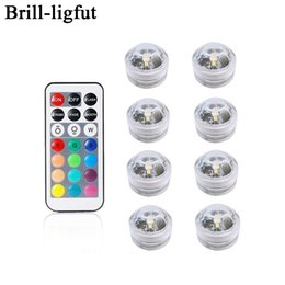 aquarium lamp bulb Australia - Battery Operated Waterproof RGB Submersible LED Light Underwater Night Lamp Tea Lights for vase,bowls,aquarium and party Wedding