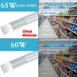 $enCountryForm.capitalKeyWord NZ - T8 Integrated Led Tube 4FT 5FT 6FT 8FT 1800MM 65W LED Shop Light Fixture V Shaped Double Sides LED Fluorescent Bulbs Lamp