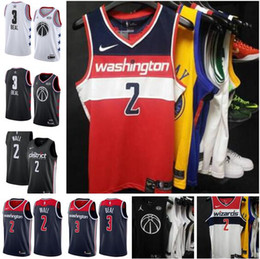 $enCountryForm.capitalKeyWord Australia - 2019 new style Washington Men Wizards 2 Wall 3 Beal Embroidery Basketball Vests black White Edition shorts Jerseys