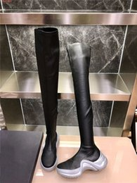 gold flat knee boots NZ - new Metal elements Woman knee Boots ,Autumn and winter motorcycle Middle Boots ,flats boots Lace-up Casual Fashion Shoes Size 35-39