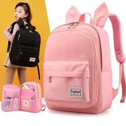 cute backpacks for teenage girls Canada - Cute Cartoon Rabit Ears Backpack Girl Schoolbag for Teenage Women Back Pack Nylon School Backpack Female Teen Bagpack 2019 new