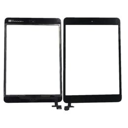 Touch Ipad Mini Ic Connector Australia - 100% New Touch Screen Glass Panel with Digitizer with ic Connector Buttons for iPad Mini 2 STY190