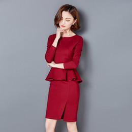 02b16cb5deb Vestido de primavera OL Paquete temperamento delgado falda de la cadera  traje profesional beautician mujer uniformes nuevo verano
